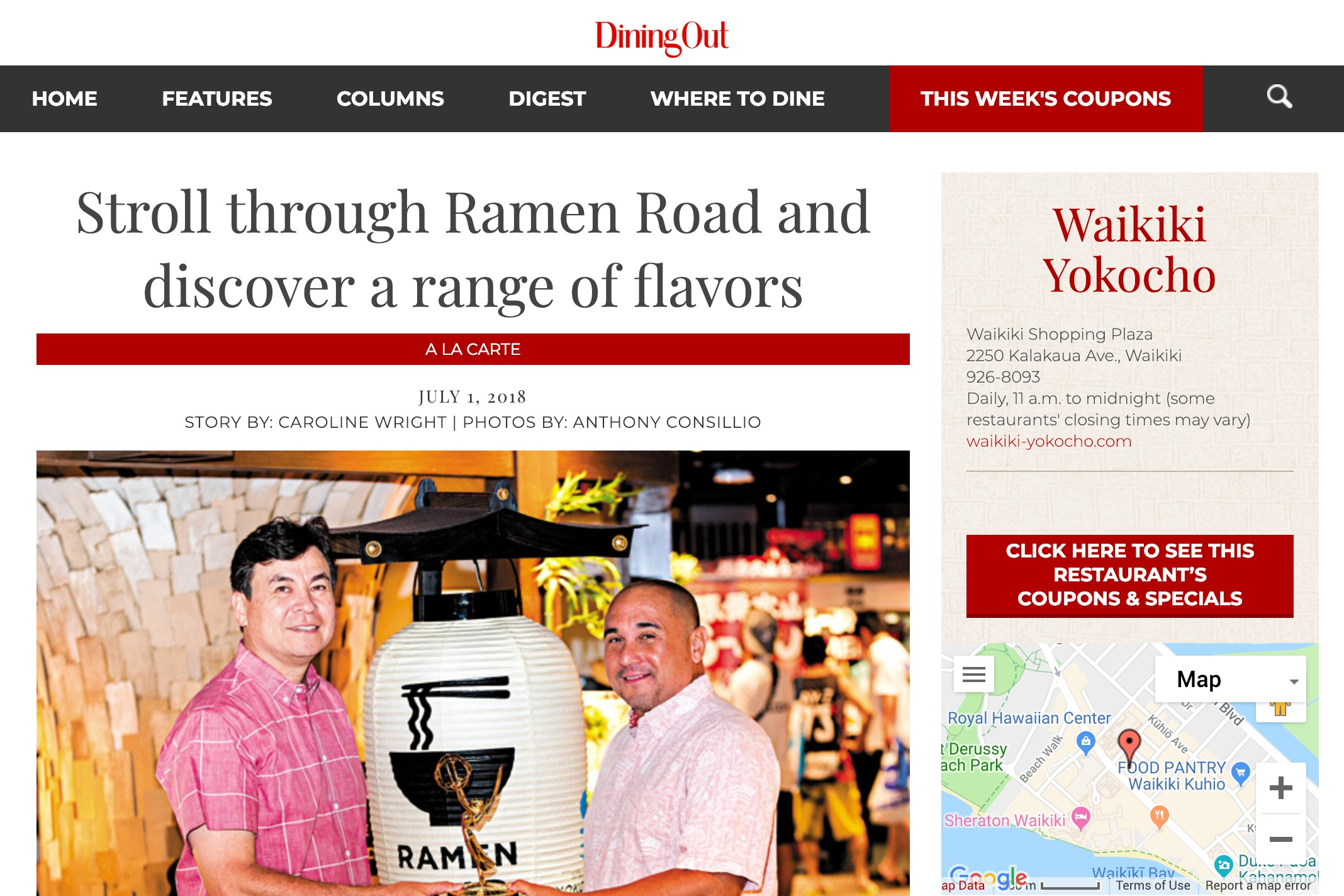 Stroll through Ramen Road and discover a range of flavors  by Honolulu Star Advertiser