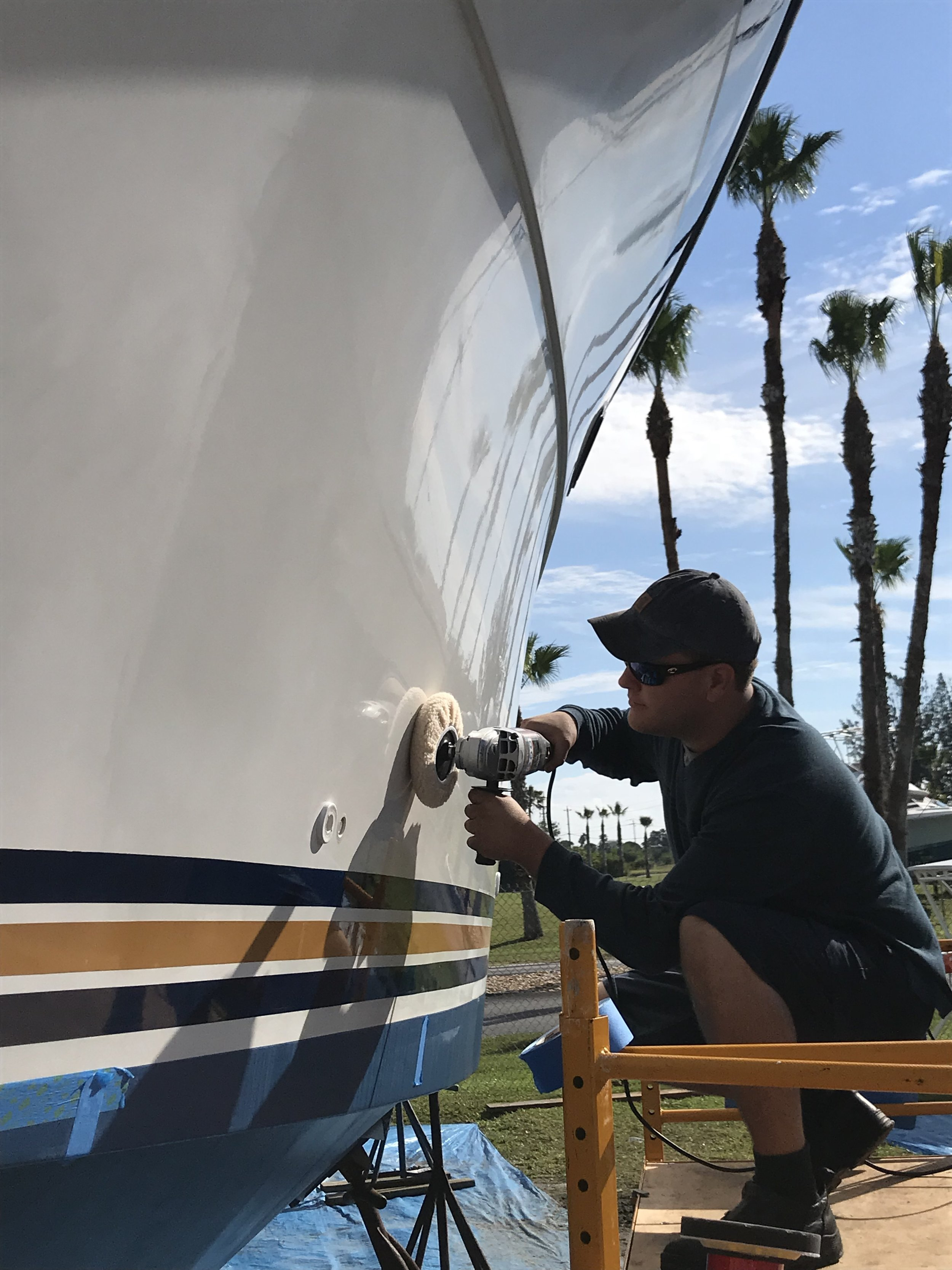 Boat Yacht Detailing, Cleaning, Polishing and Waxing
