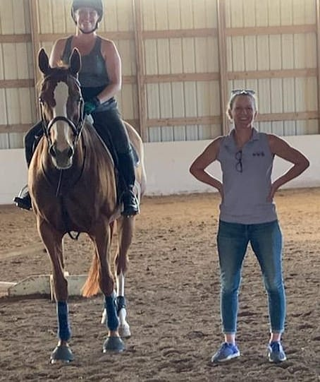 Horses come in & out of our lives.  All giving us memories, lessons, and becoming our personal therapists. They help us conquer fears, face battles and solve problems in & out of the ring.  Pictured: @jbbp96 & Martha after a great lesson with @kjcost1. Couldn't be happier with how far this partnership has come in such a short period of time  #marthamae #besttrainer #horseforsale #hunterjumper