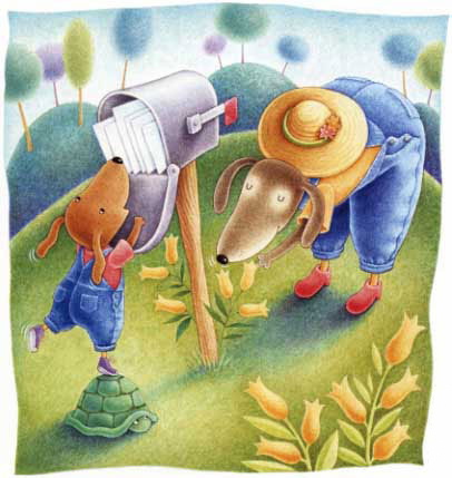 Illustration by Karla Firehammer from the book  At Grandma's