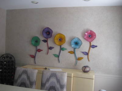 Copy of blown glass wall flowers