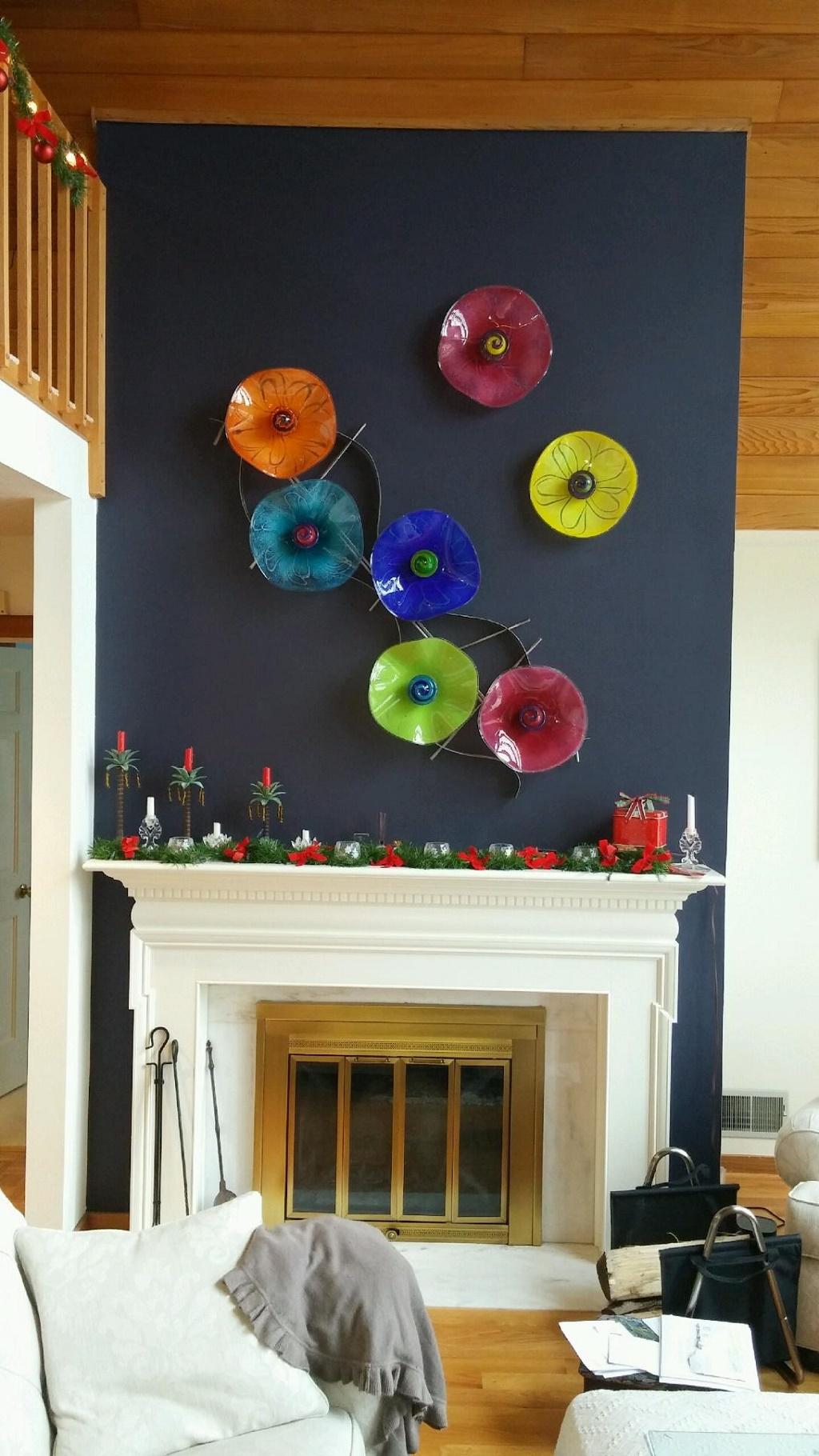 Copy of healing art glass wall flowers