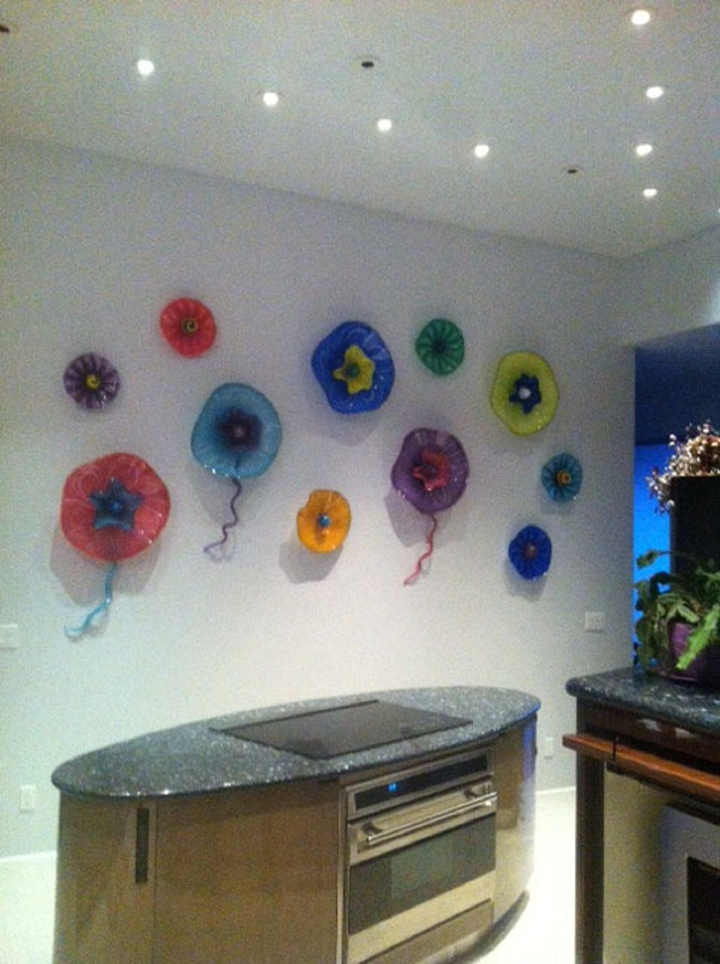 Copy of colorful glass wall art