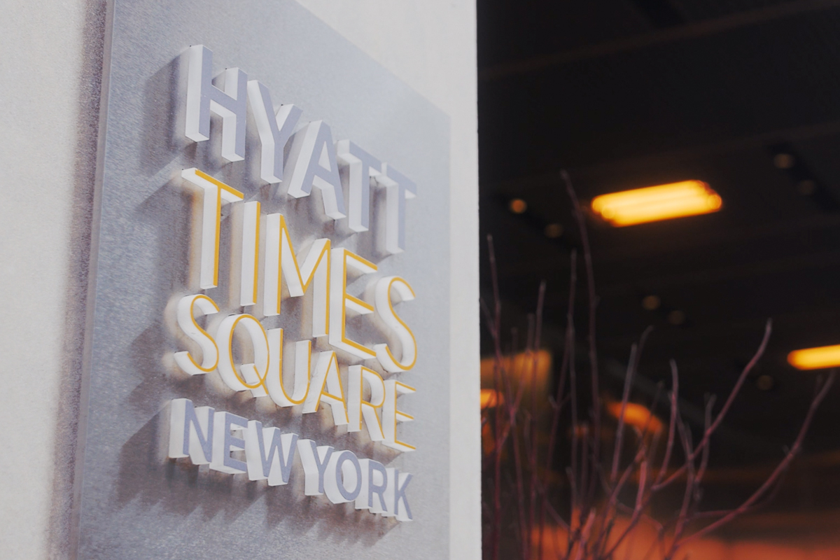Hyatt Times Square Room Signage
