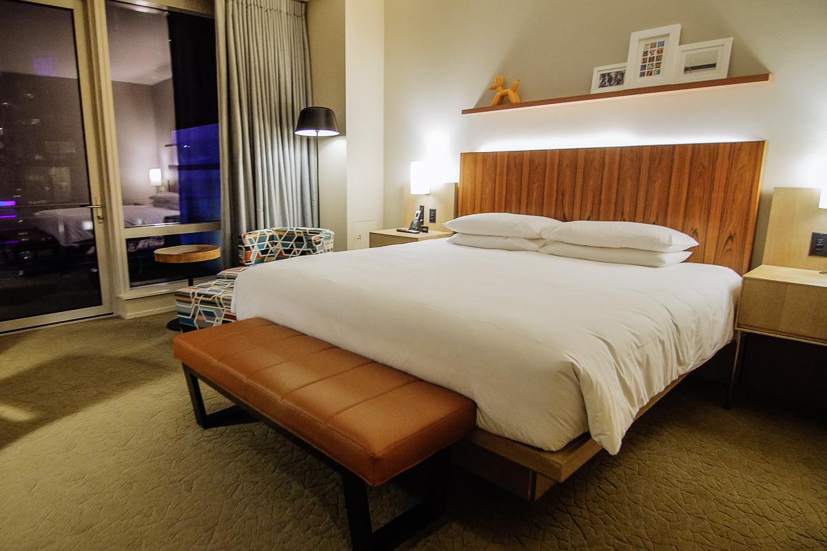 Hyatt Times Square Room Bedroom (Night)