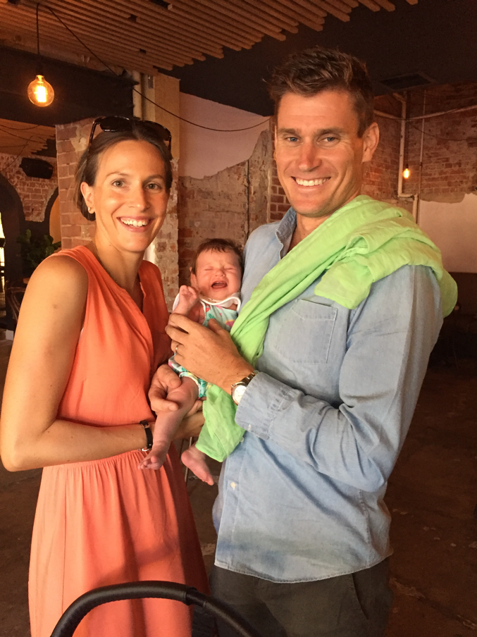 Brad Kahlefeldt with wife Radka and daughter Ruby