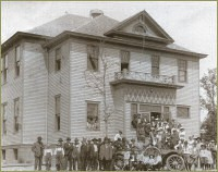 In 1908, a small school was built between the Kennedy and Rabbit Lake. Flora Tuck was the first teacher. In 1910, a new school, The Cuyuna High School, housing grades 1 through 8 to begin with, was built. Most families took part in school programs and the PTA.