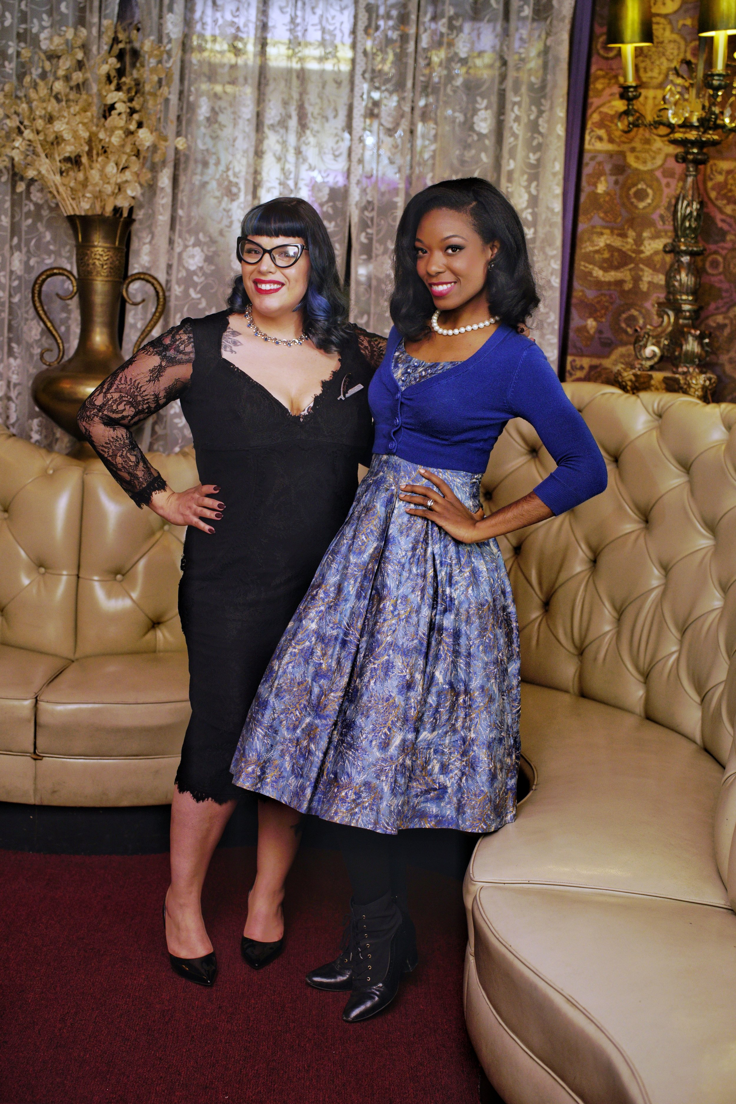Me and Lissete at the meetup at Hob Nob with The Milwaukee Vintage Style Society