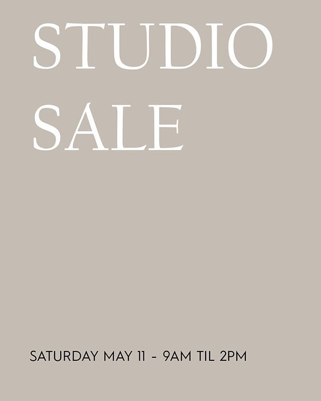 SAVE THE DATE! @stephanie_somebody will be selling props, @figandsalt will be selling baked treats and the studio will be selling everything else! We have ex-events props, photography gear, furniture, vessels, etc. Hope to see you all there!