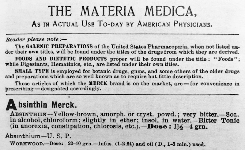 Merck Manual 1899. Yes, there is a typographic error.
