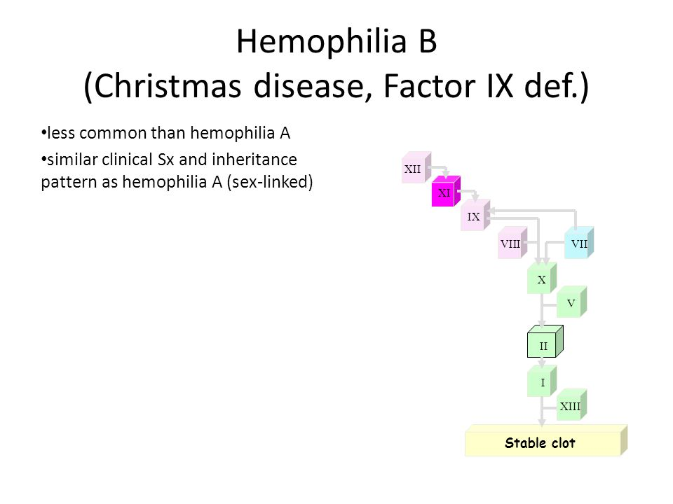 Factor IX Defect Hemophilia B