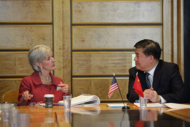 Dr. Zhu with Secretary Sibellius in 2011