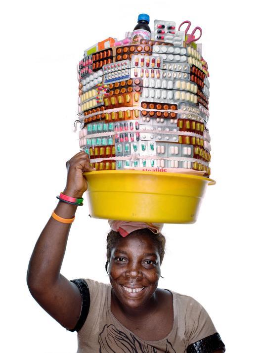 Haitian Street Vendor with Pills
