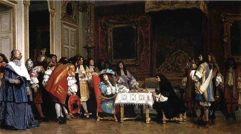 Louis XIV and his dinner guest, Moliere