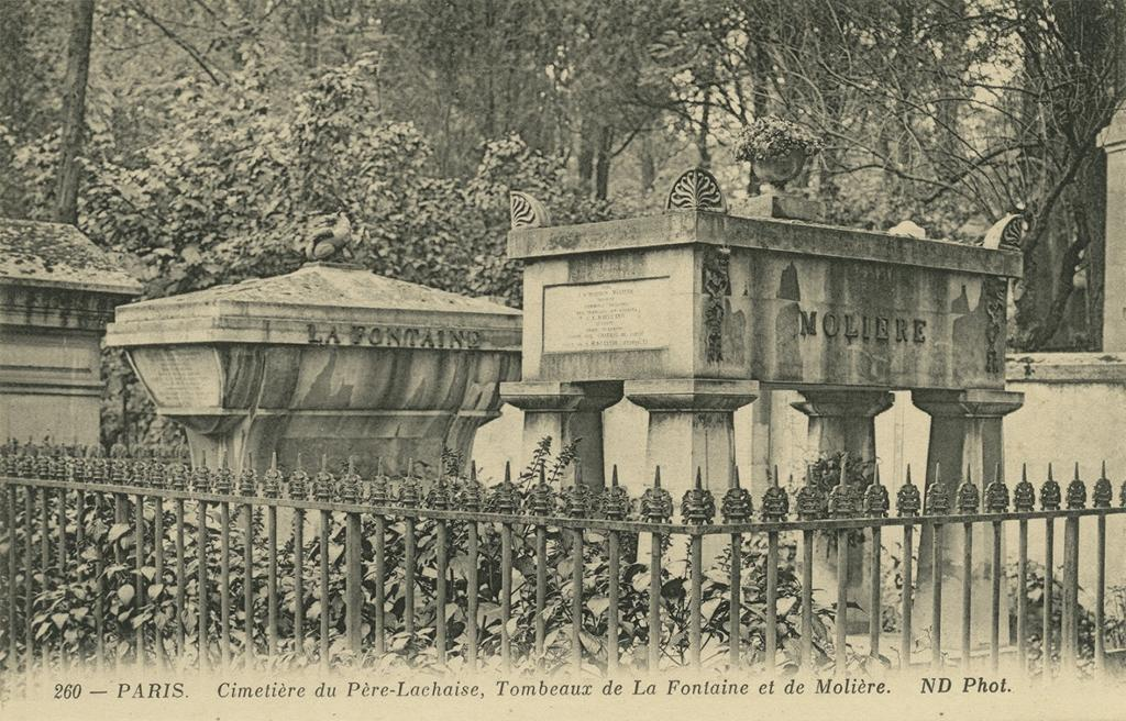 Pere LaChaise. Moliere and LaFontaine