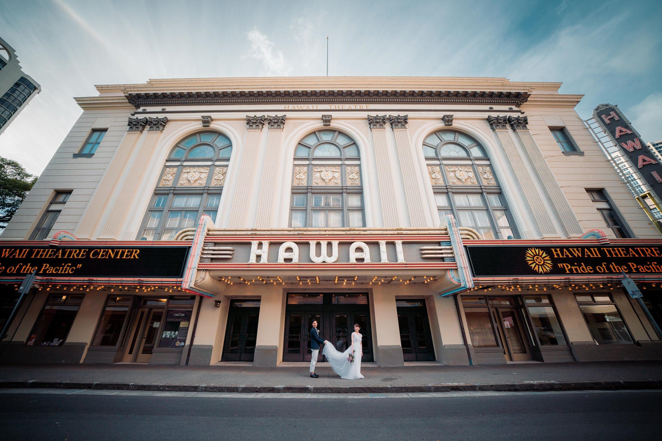 Toshi Takahashi Hawaii Wedding Photographer Downtown Hawaii Theater.jpg