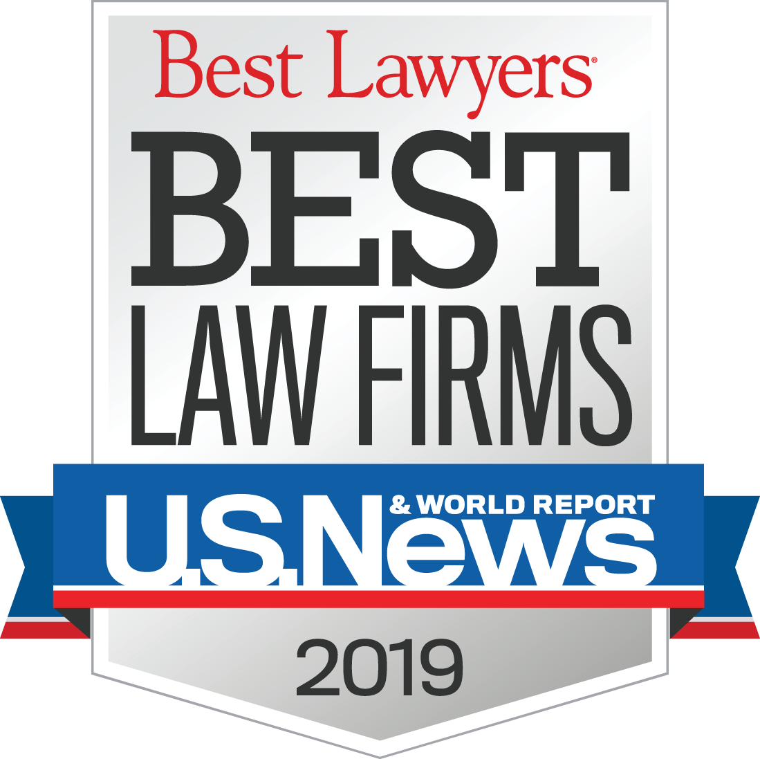 Selected as Best Lawyers Best Law Firms 2015-2019