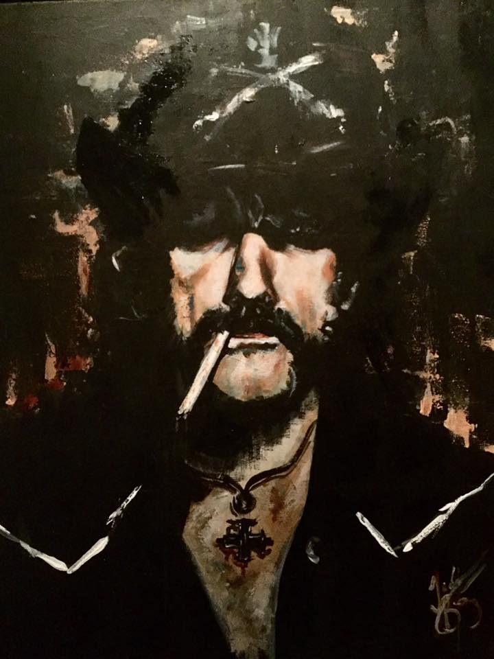 Lemmy // Acrylic on Canvas // 75x100cm // 2017