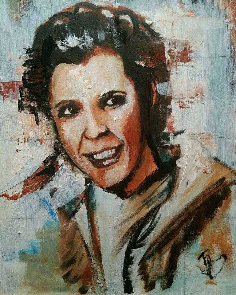 A Tribute To Carrie Fisher // Acrylic on Canvas // 40x50cm // 2016