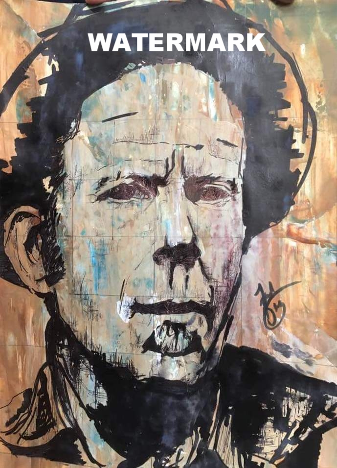Tom Waits // Acrylic and Ink on Paper // A2 // 2016