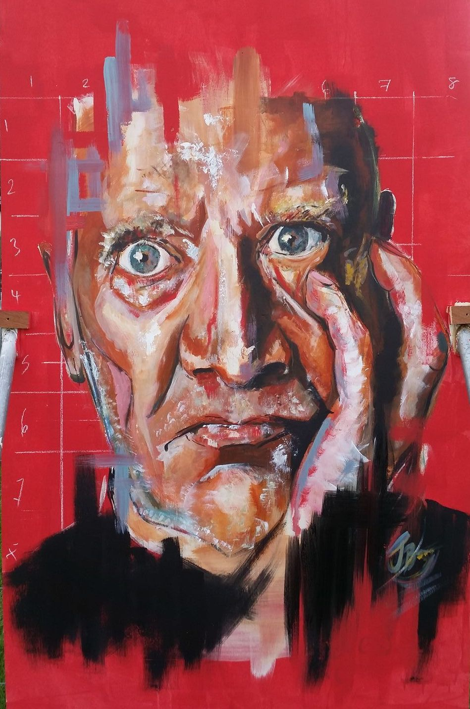 Wilko Johnson // Acrylic and Emulsion on Wood // 8x4ft // 2017