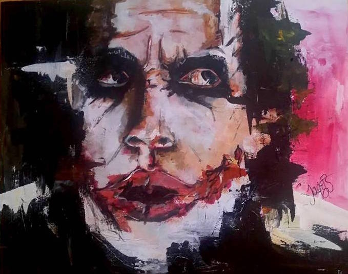The Joker // Acrylic on Wood // 40x50cm // 2016