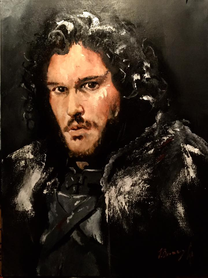 Jon Snow, The Bastard // Oil on Canvas // 75x90cm // 2017