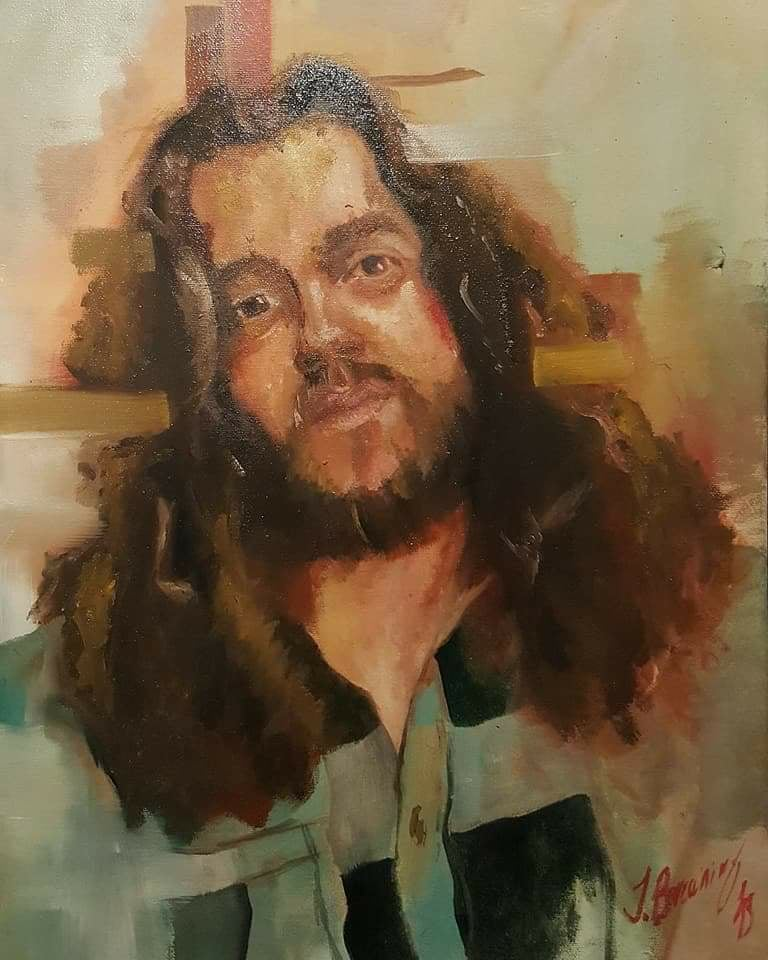 """Keep This Living And You'll Wind Up Dead"" // Oil on Canvas // 60x75cm // 2018"