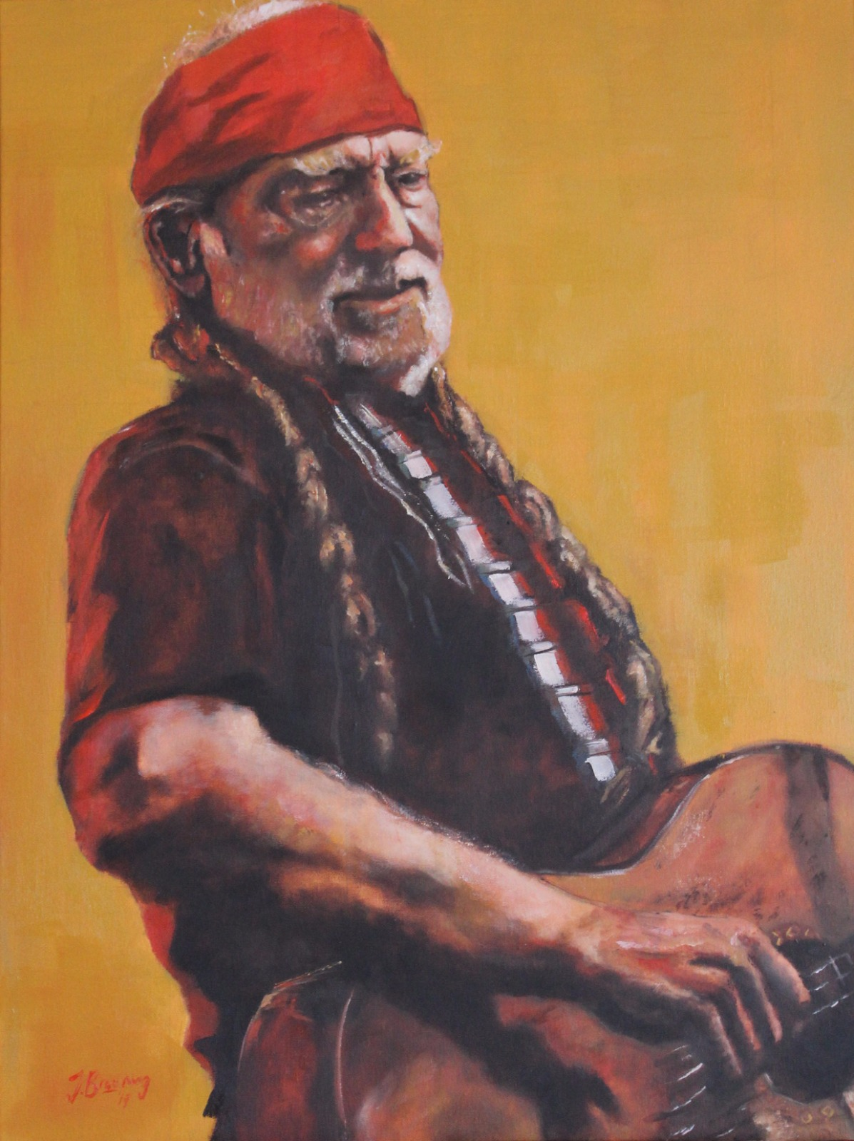 Willie Nelson // Oil on Canvas // 60x80cm // 2019 by Jack Browning