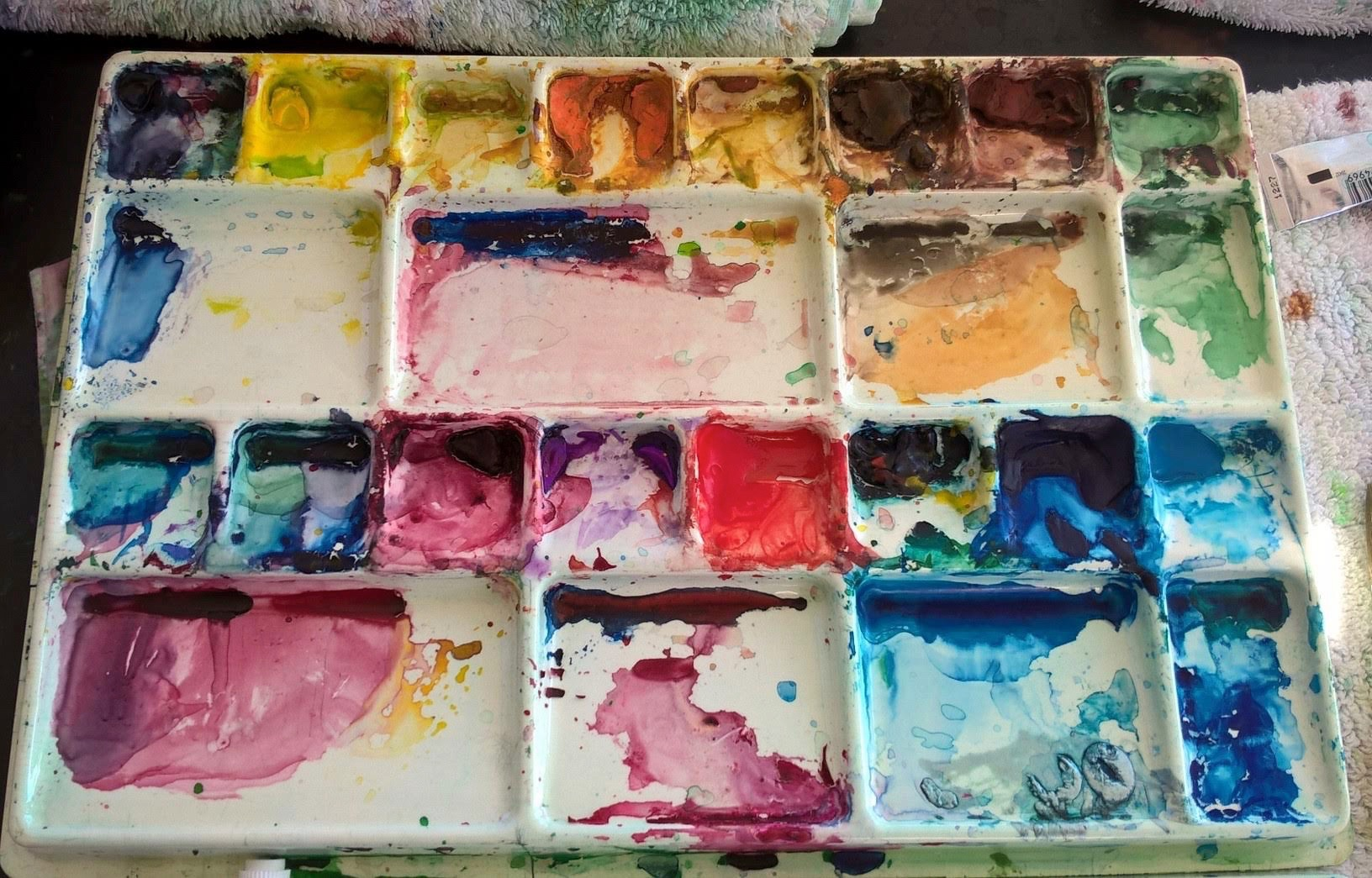 Finished painting palette!