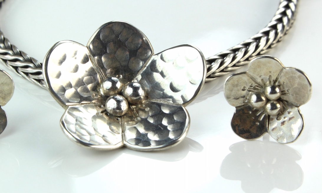 Sterling Silver Flower Designs
