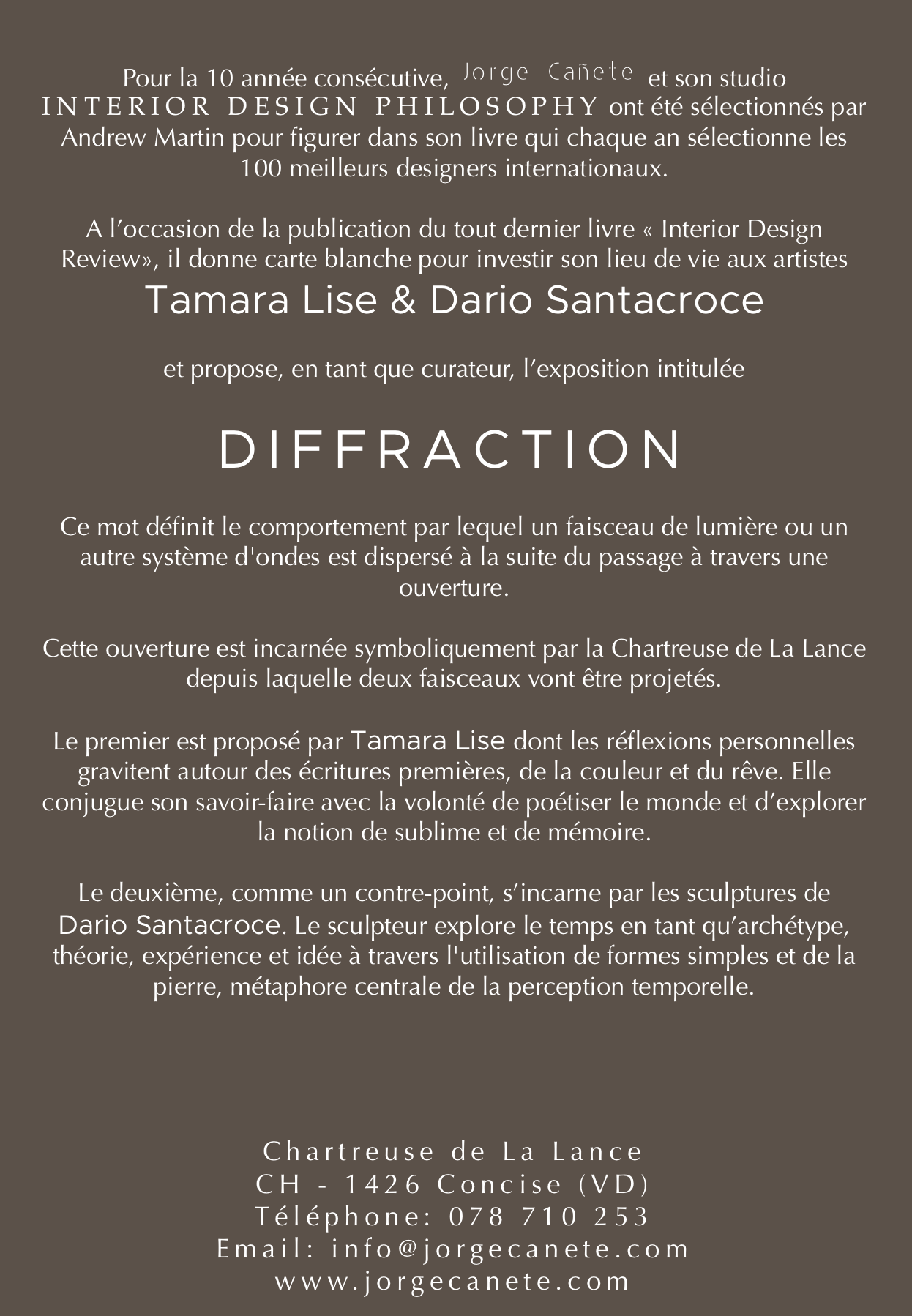 Dario Santacroce DIFFRACTION