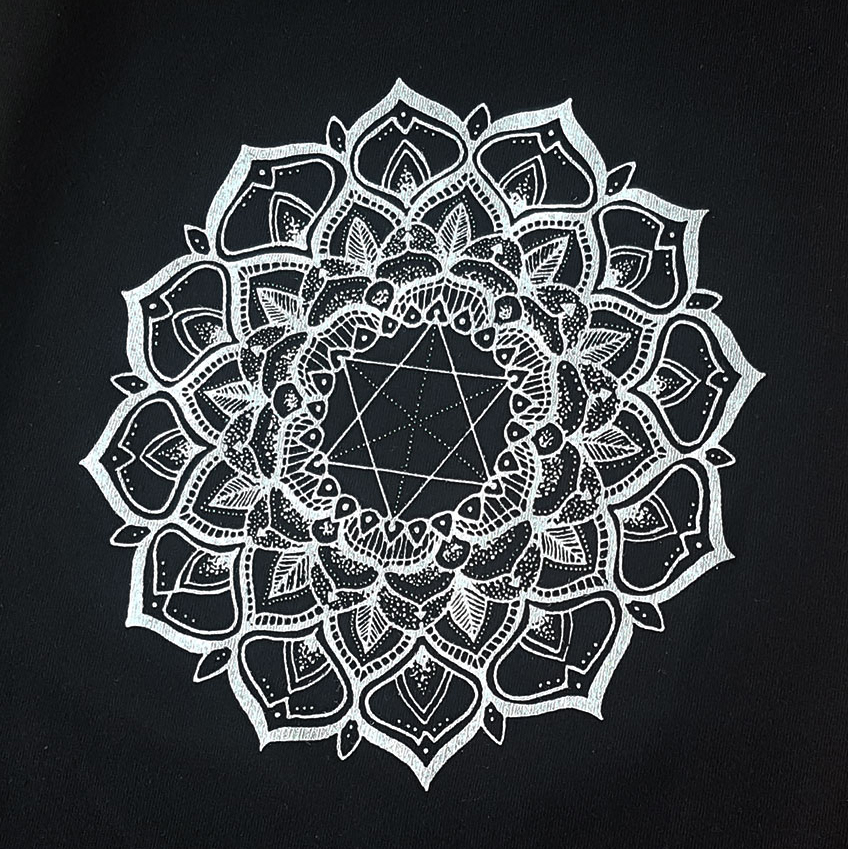 white-mandala-print-on-black