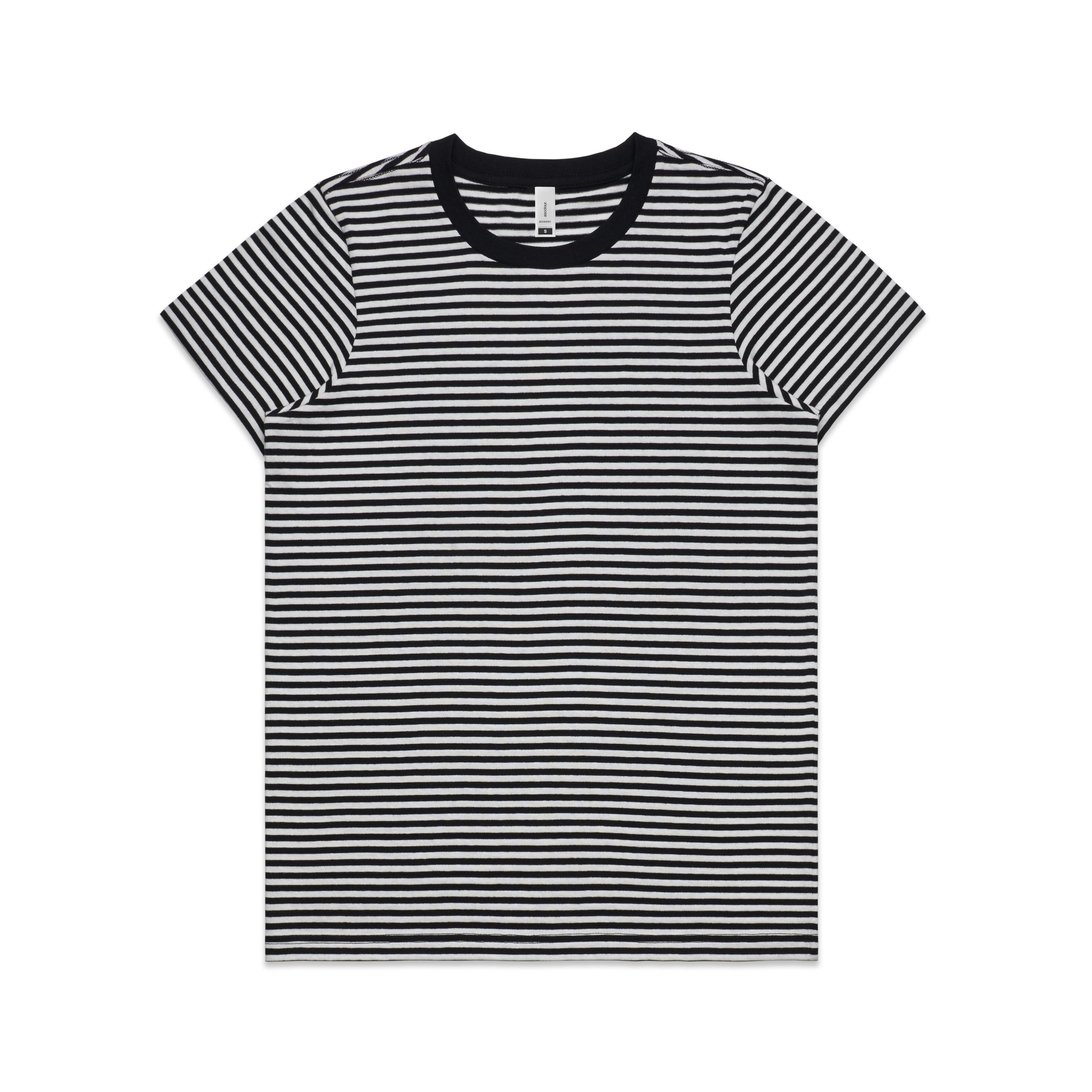 WO's Bowery Stripe Tee 4060 - Regular Fit | Crew Neck | Mid-Weight | 160 gsm | 100% Combed Cotton | Preshrunk | 2 Colours