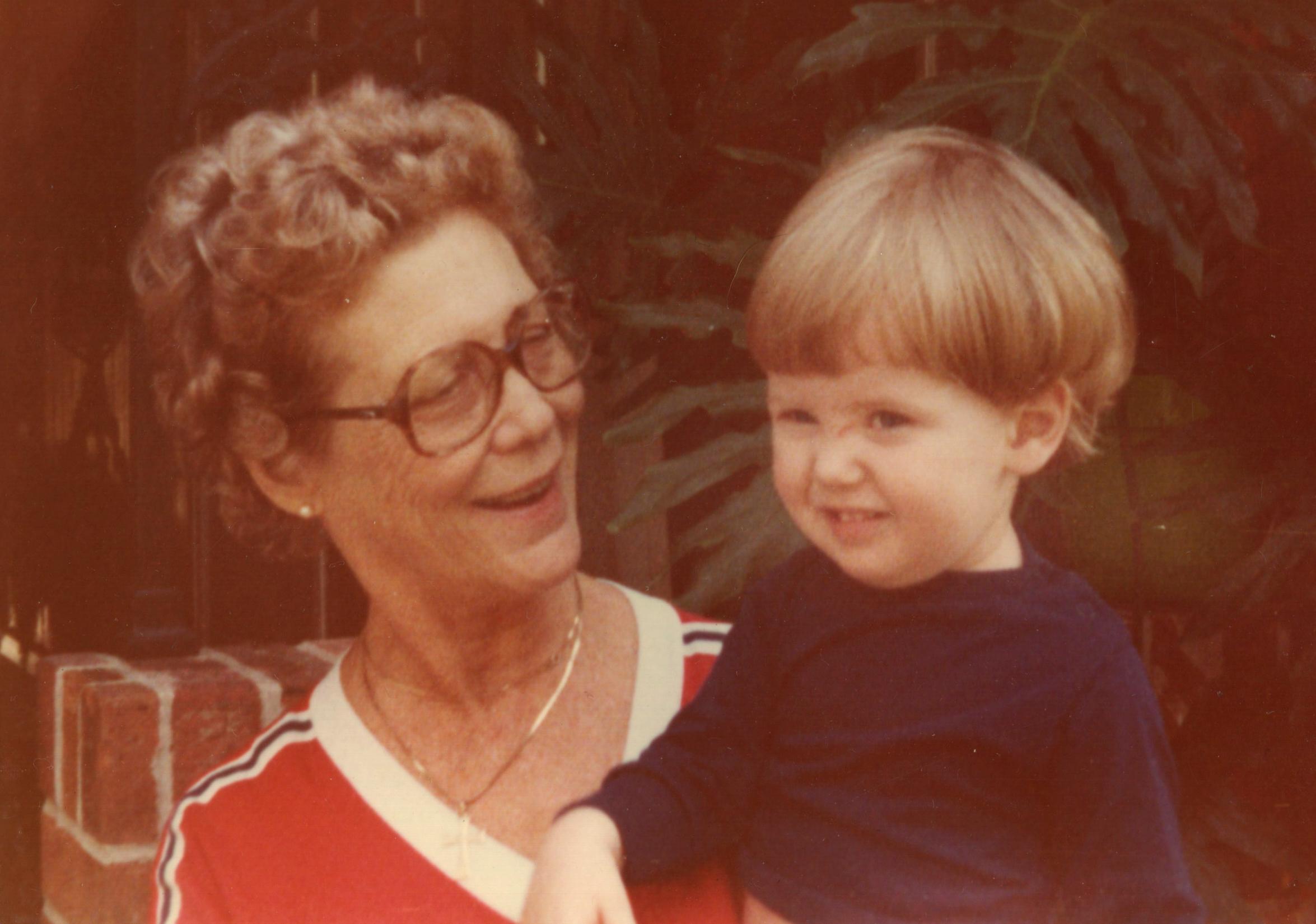 Maw-Maw Betty & Jason, September 1981
