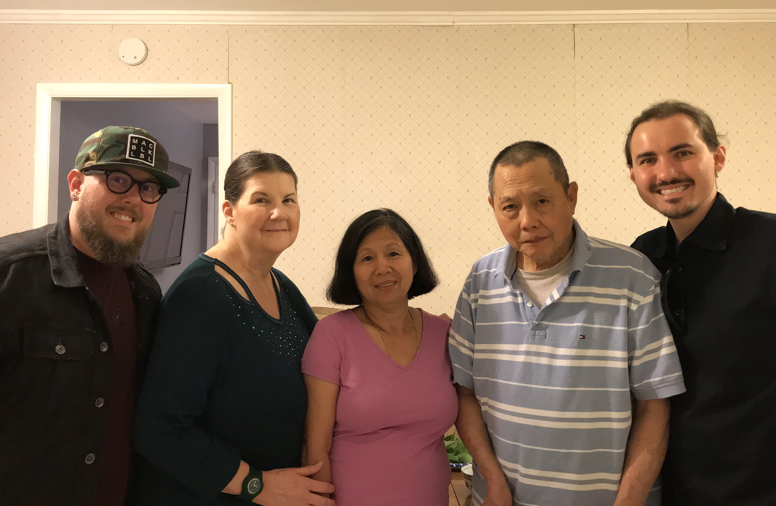Jason, Colleen & Simon Jones with Kim and Khun Hong, June 2018