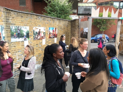 Tea and chat at Brixton Design Trail 2018