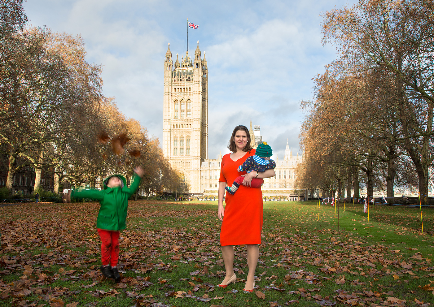 Jo Swinson, Leader of the Liberal Democrats, photographed for #MotherWorks