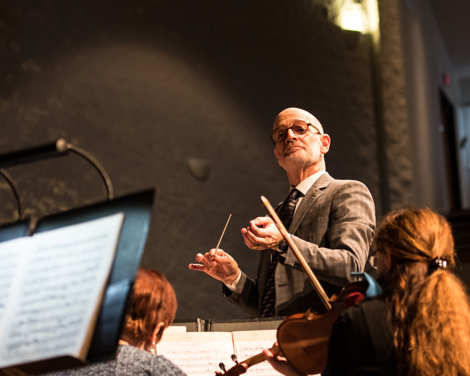Racine Symphony Orchestra Conductor Pasquale Laurino directs the orchestra during a performance Tuesday morning for fifth-grade students from schools throughout the Racine area