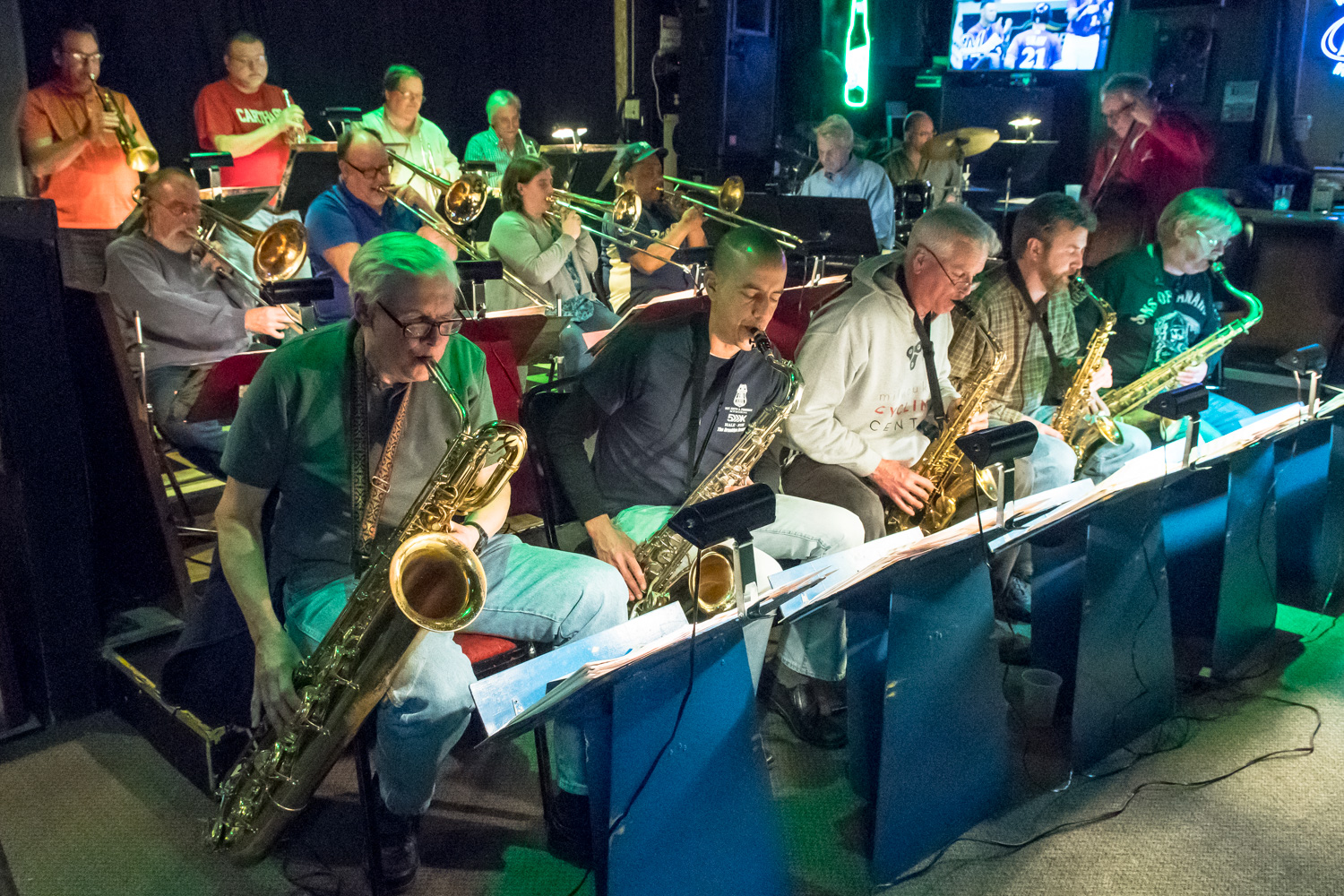 The Parkside Reunion Big Band performs every other Tuesday from 8-10 p.m. at McAuliffe's Pub in Racine's Georgetown neighborhood.