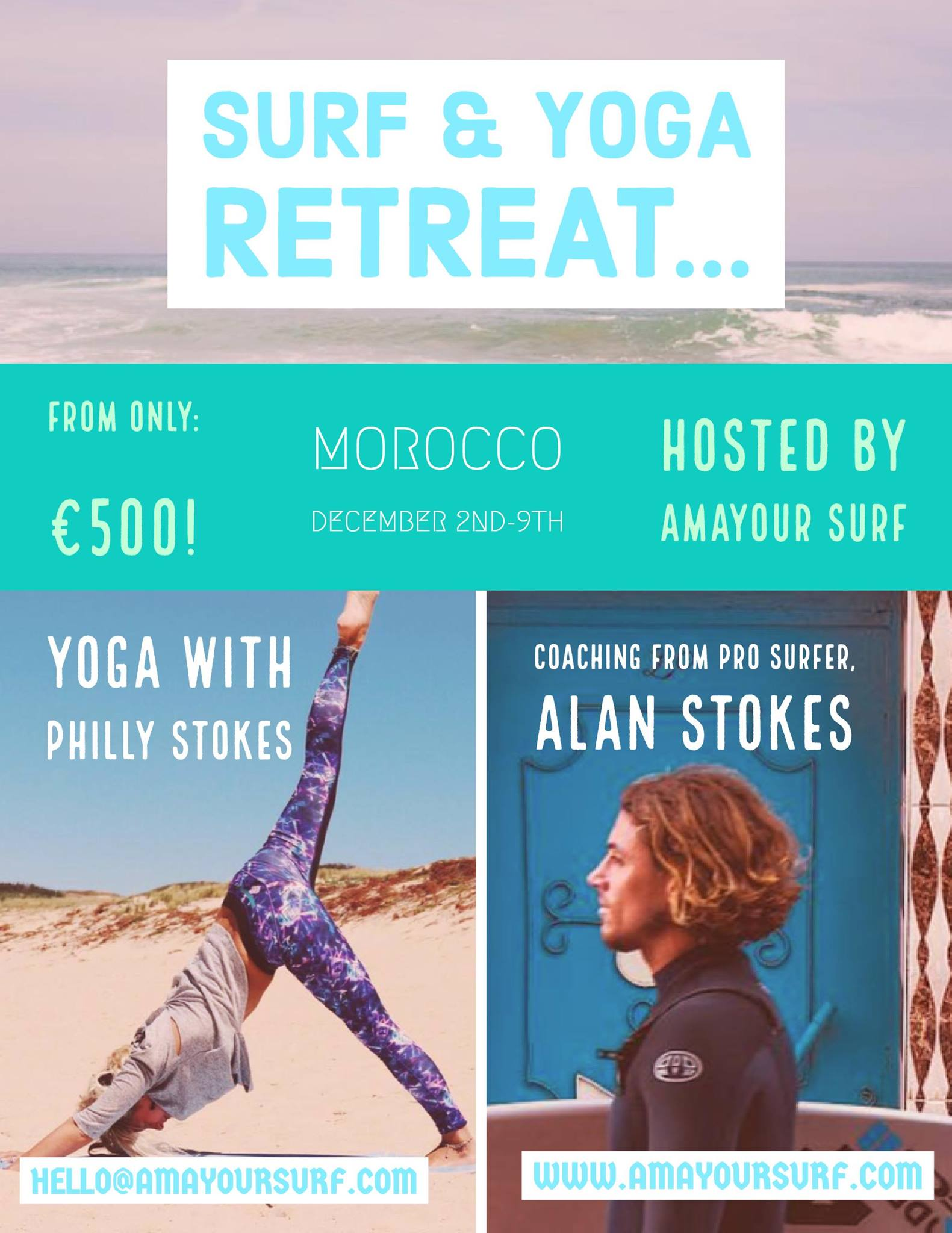 Surf & Yoga Retreat  - December 2nd-9th 2017Spaces are filling fast!BOOK NOW.