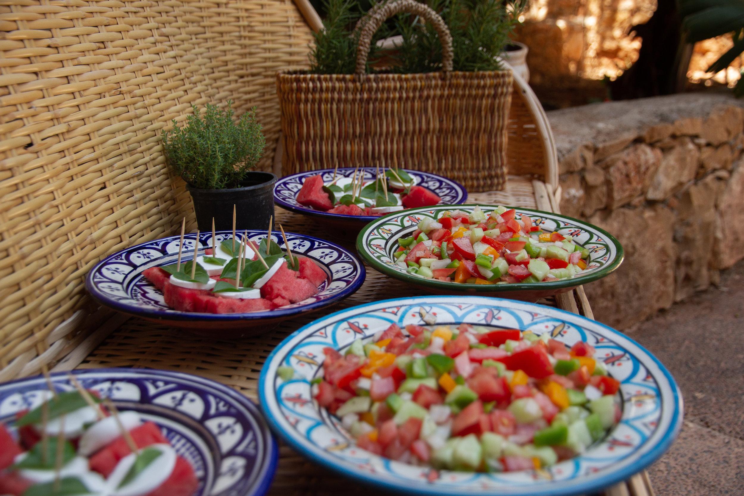 Modern morocco Retreat food