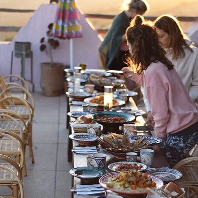 Retreat life rules.. • have a incredible teacher @mineral.yoga • Awesome location #tamazirtbyamayour • Delicious food • Beautiful guests  The rest will come naturally... thanks for @dom_wawrzyniak thèse beautiful photos • • • • • • •  #yogaholiday  #yoga  #travelmorocco  #foodphotography  #holidayspam  #foodphotography  #yogaretreat  #travelyogi  #surflife  #taghazout  #moretogether  #goldenhour #saltlife  #tamazirtbyamayour  #amayoursurf  #yogaeverydamnday  #mineralyoga  #passionpassport  #dametraveler