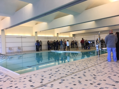 The new pool and the smaller Hydra pool are located on the first floor.