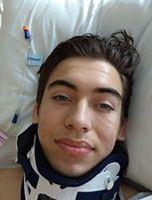 First picture of Ryan from hospital bed