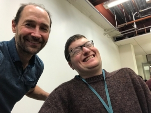 Nick and Peter at the Berkeley Spinal Network meeting