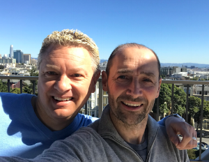 Todd Boyer (left) and Nick Struthers at CPMC North Tower