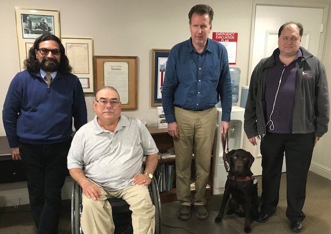 From left to right: Vidal, Mike, Larry, Palmer and Frank