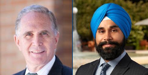 Dr. Graham Creasey (left), Dr. Harminder Singh (right)