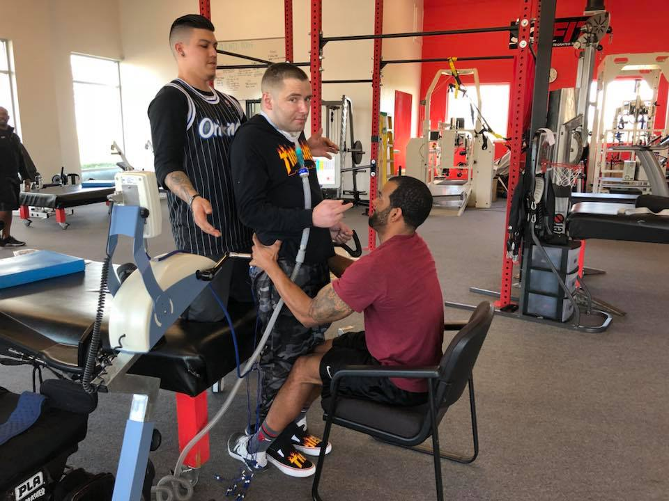 Mike Droter during his therapy session at SCI-FIT Sacramento